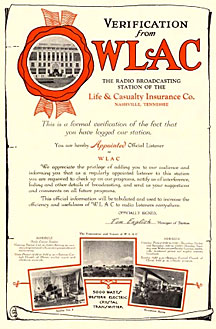 WLAC Radio Verification